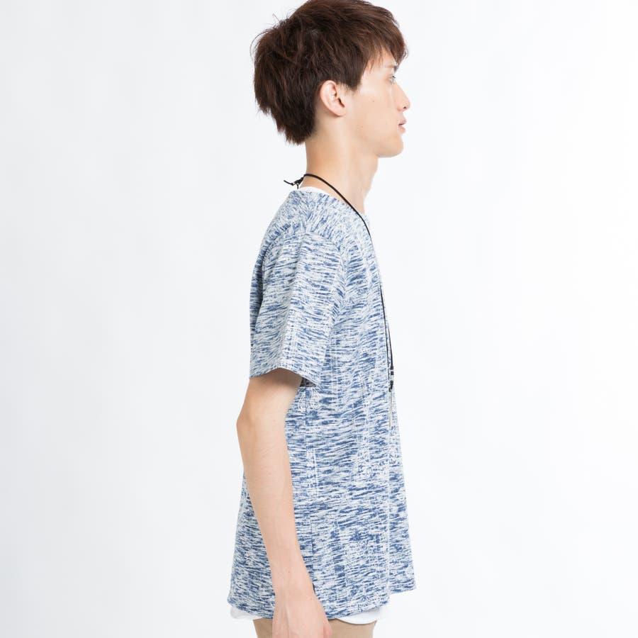 ネックレス付きレイヤード総柄Tシャツ 2