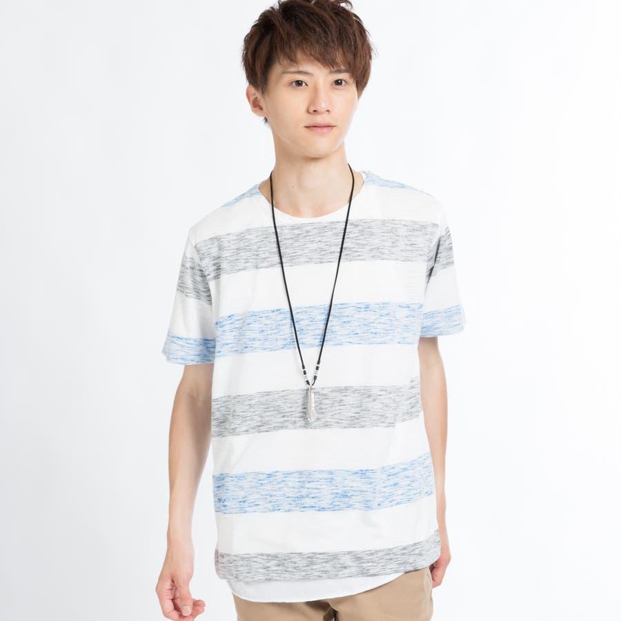 ネックレス付きレイヤード総柄Tシャツ 7