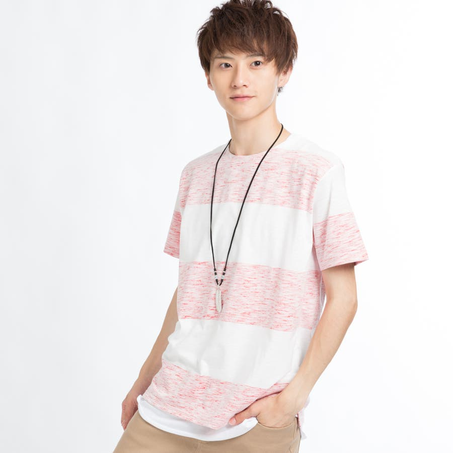 ネックレス付きレイヤード総柄Tシャツ 11