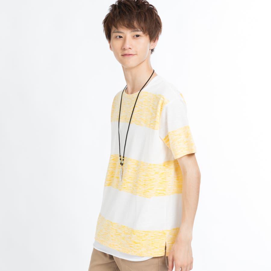 ネックレス付きレイヤード総柄Tシャツ 9