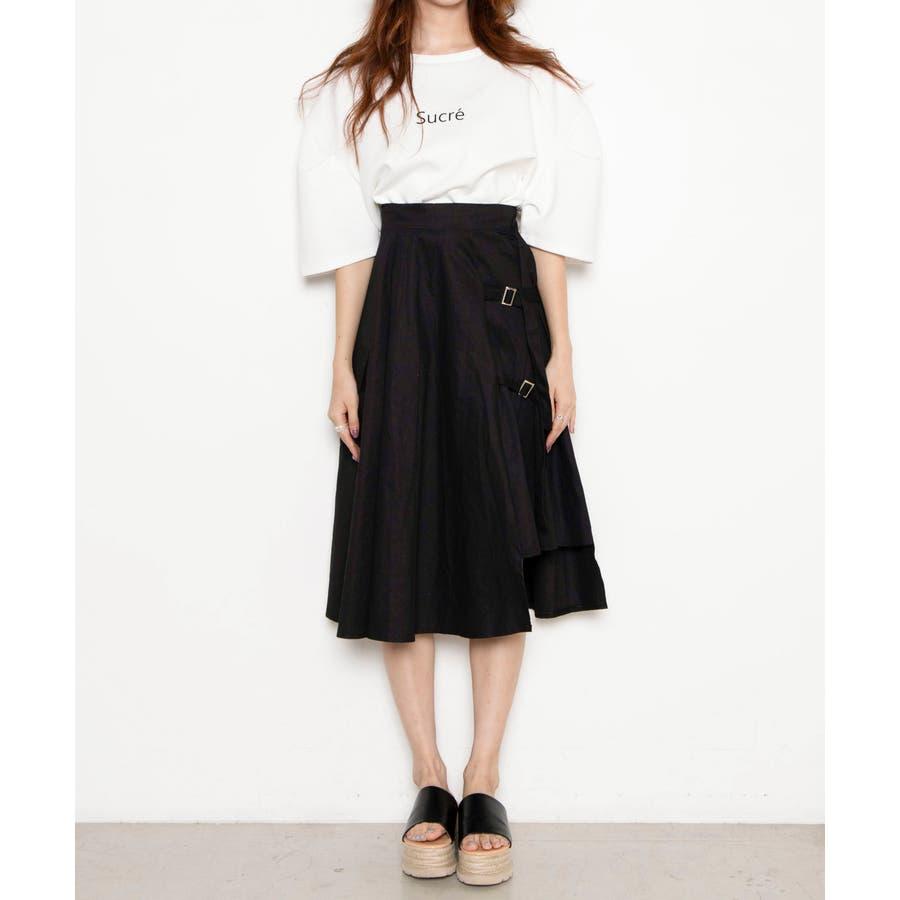 ベルト付キ裾アシメロングスカート MO20SM07-L5008 5