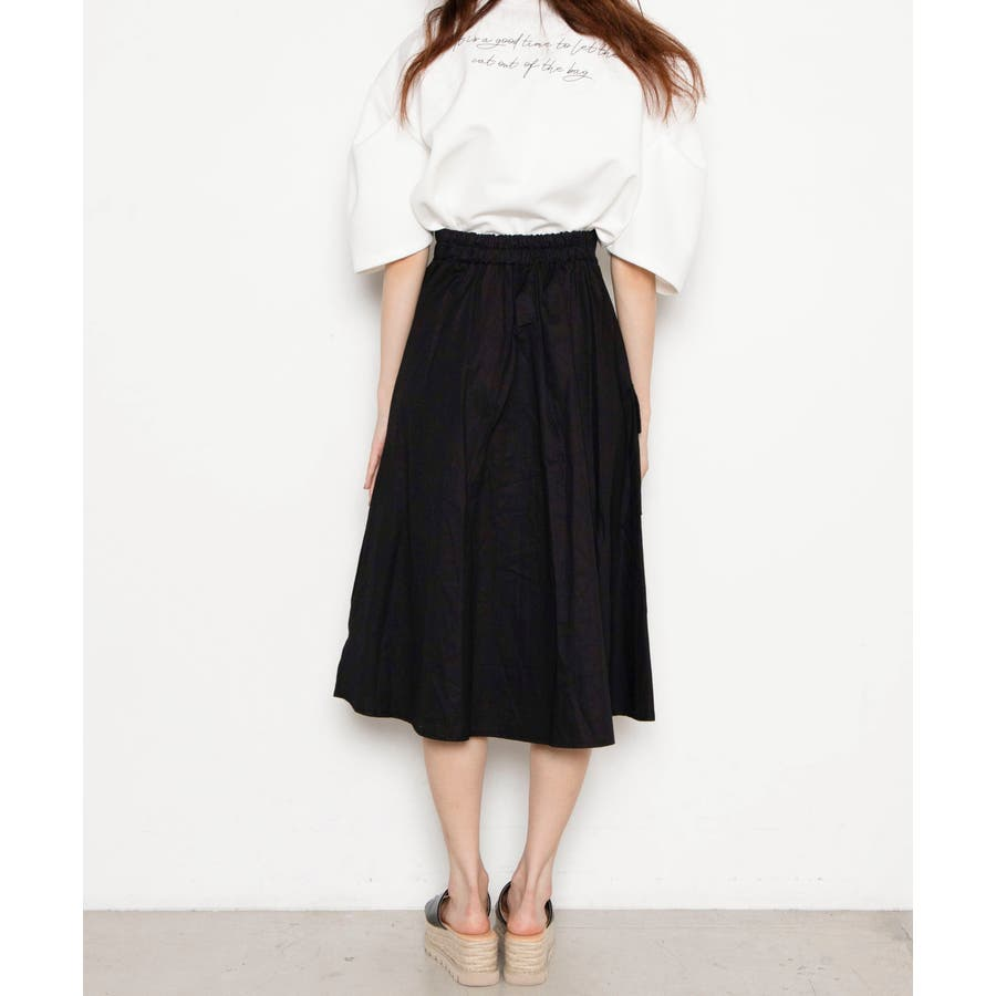ベルト付キ裾アシメロングスカート MO20SM07-L5008 7