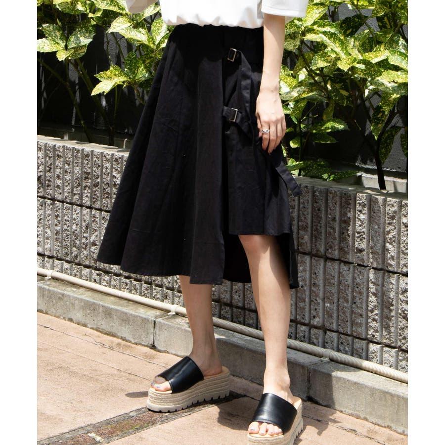 ベルト付キ裾アシメロングスカート MO20SM07-L5008 21