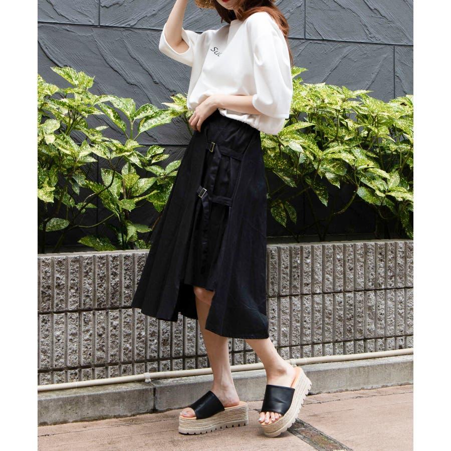 ベルト付キ裾アシメロングスカート MO20SM07-L5008 3
