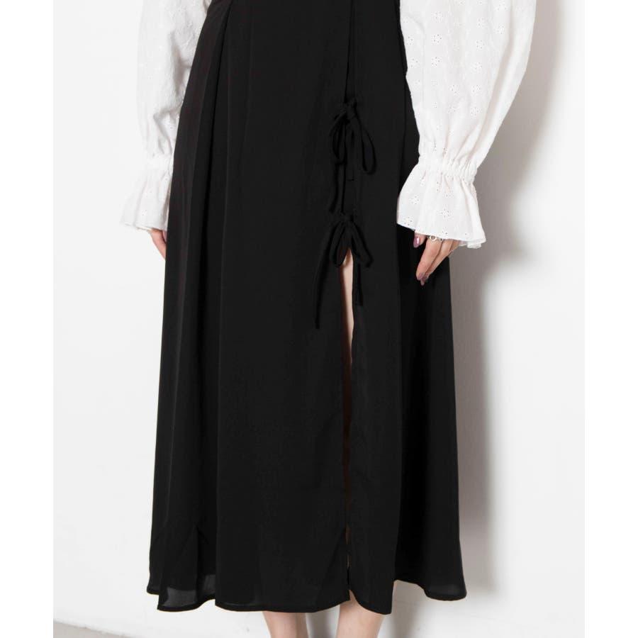 スリットリボンロングスカート MO20SM07-L5009 8