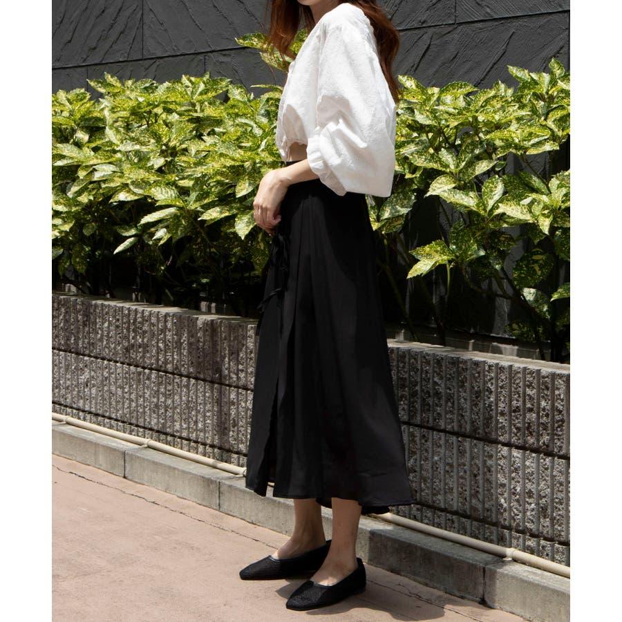 スリットリボンロングスカート MO20SM07-L5009 4