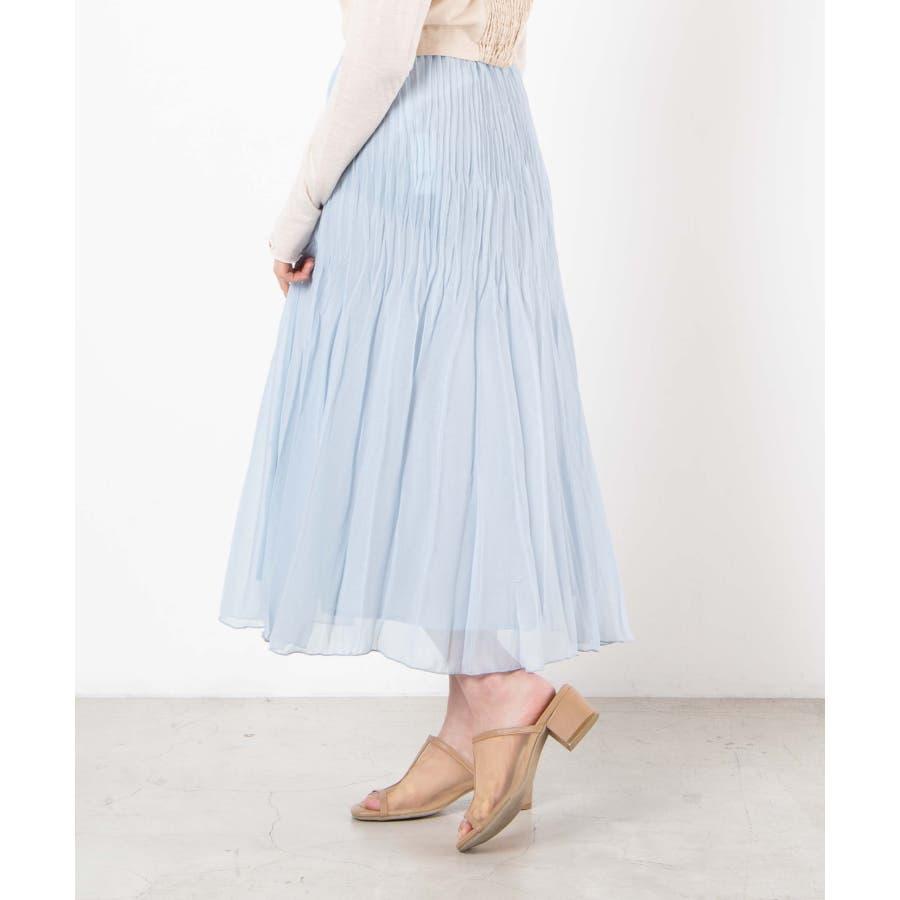 ラメシフォンプリーツスカート WE20SM04-L2212 66