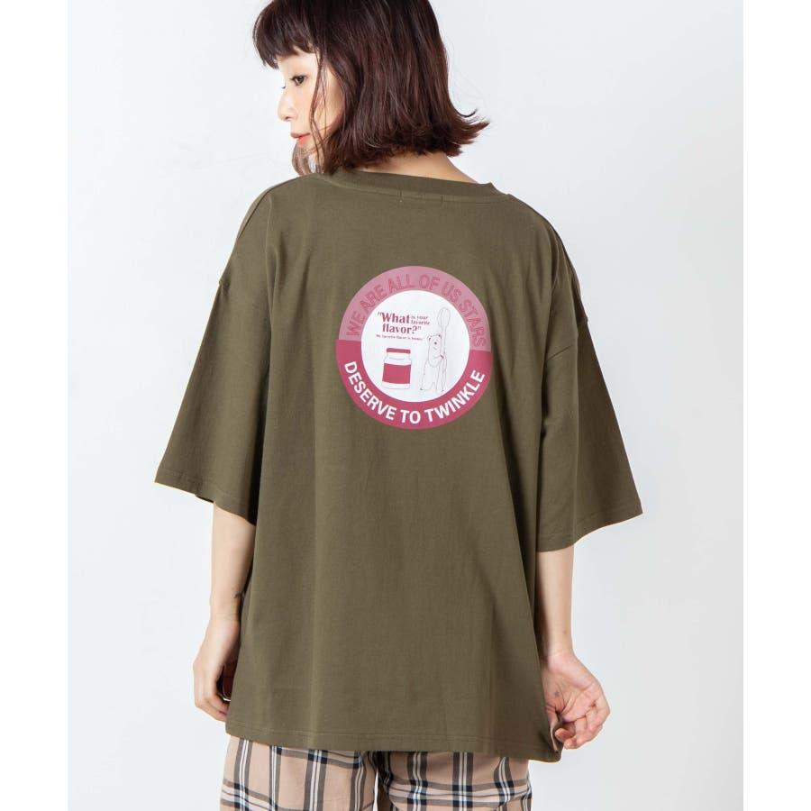サークルベアバックプリントTシャツ WE20SM08-L5001 53