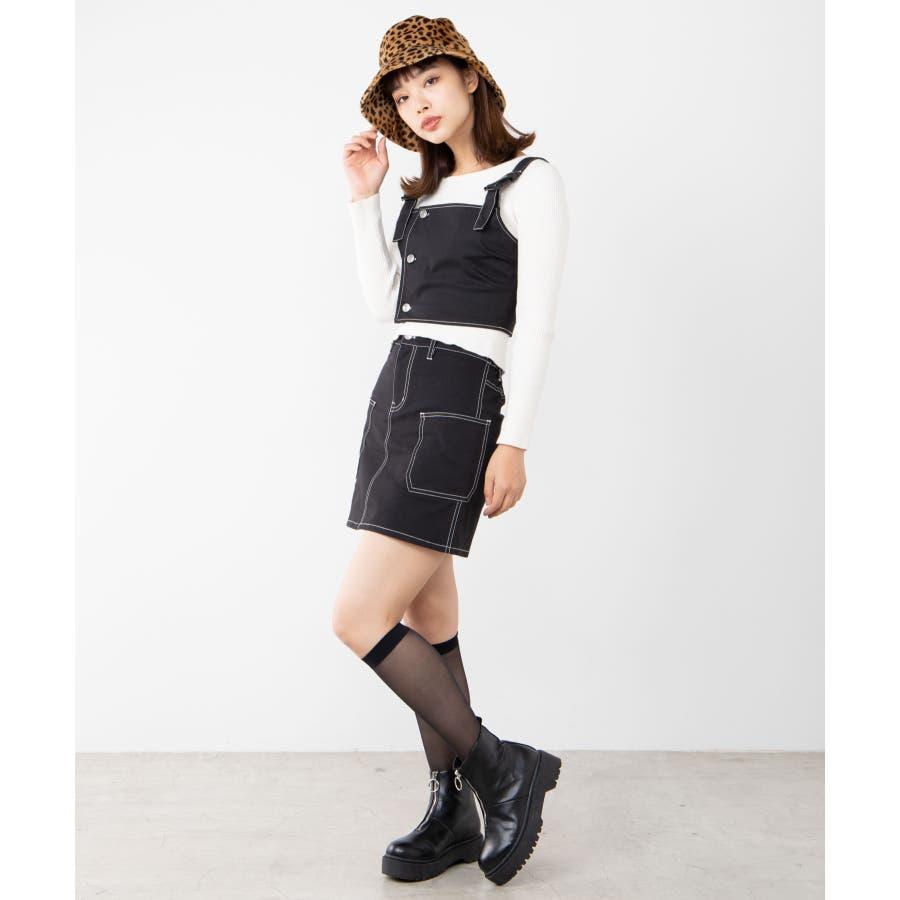 ステッチサイドポケットミニスカート WE20SP12-L8185 3