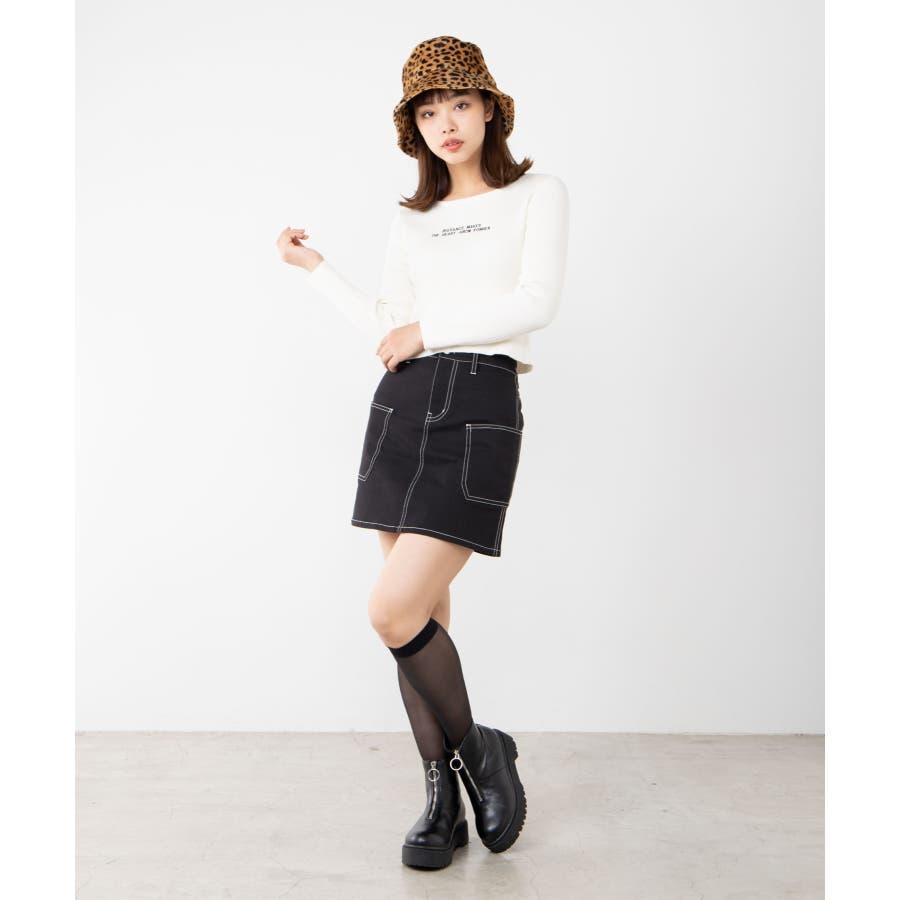 ステッチサイドポケットミニスカート WE20SP12-L8185 5