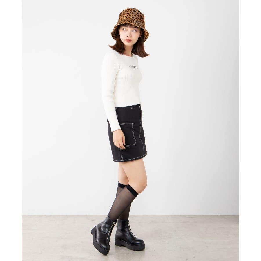 ステッチサイドポケットミニスカート WE20SP12-L8185 4