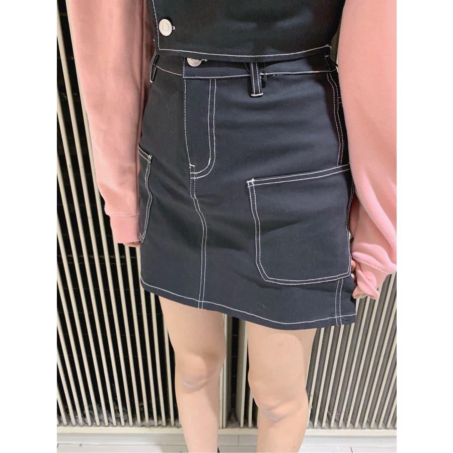 ステッチサイドポケットミニスカート WE20SP12-L8185 21