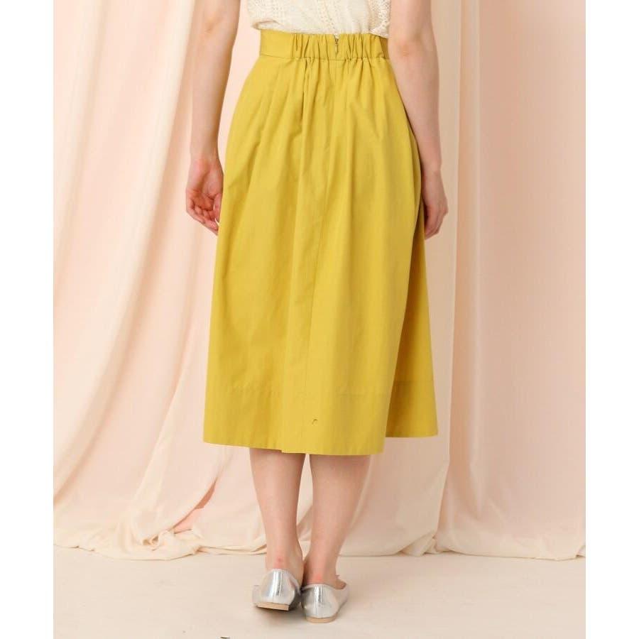 【WEB限定サイズ(LL)あり/洗える】タフタ(撥水加工)タックカラースカート 4
