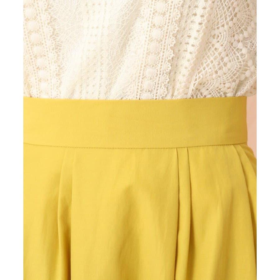 【WEB限定サイズ(LL)あり/洗える】タフタ(撥水加工)タックカラースカート 5