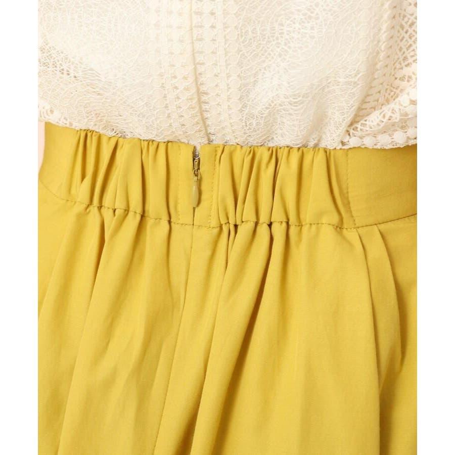 【WEB限定サイズ(LL)あり/洗える】タフタ(撥水加工)タックカラースカート 6