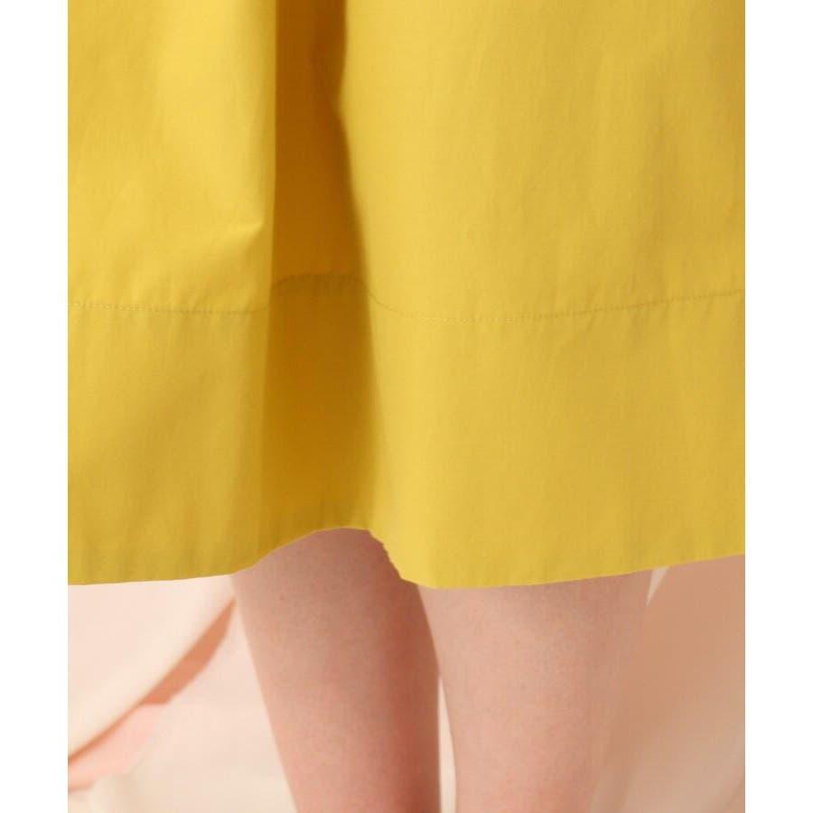 【WEB限定サイズ(LL)あり/洗える】タフタ(撥水加工)タックカラースカート 7