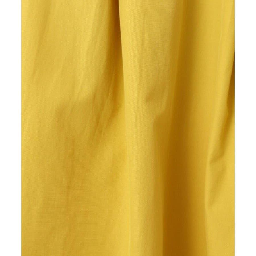 【WEB限定サイズ(LL)あり/洗える】タフタ(撥水加工)タックカラースカート 8
