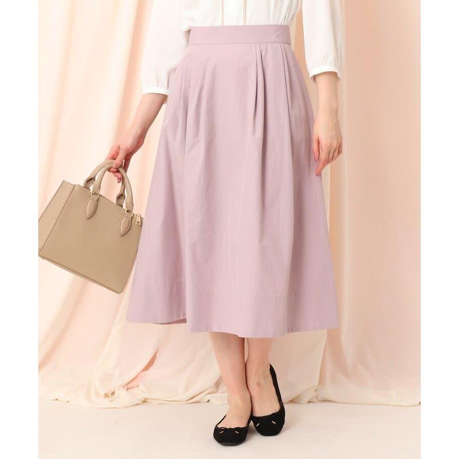 【WEB限定サイズ(LL)あり/洗える】タフタ(撥水加工)タックカラースカート 89