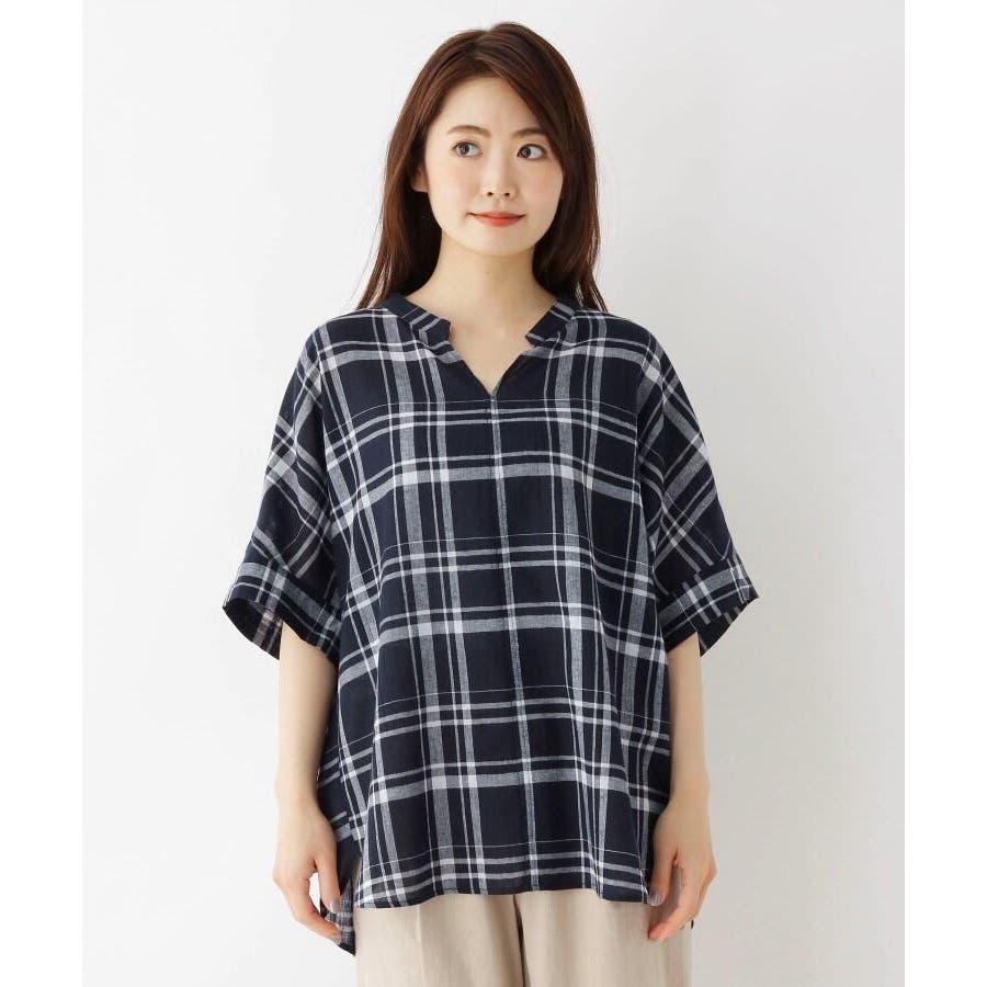 【洗濯機OK】リネン混ビッグスキッパーシャツ 2