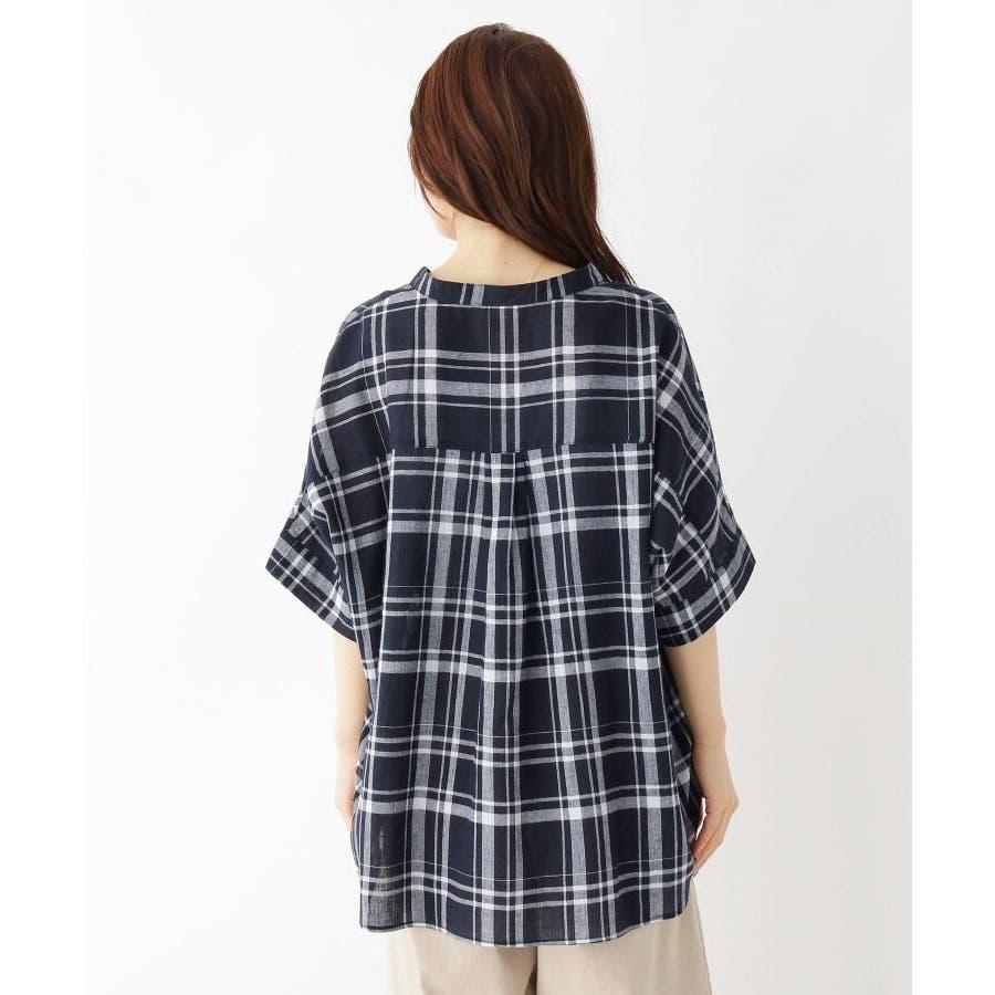 【洗濯機OK】リネン混ビッグスキッパーシャツ 4