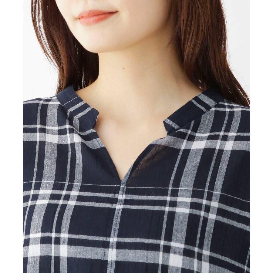 【洗濯機OK】リネン混ビッグスキッパーシャツ 5