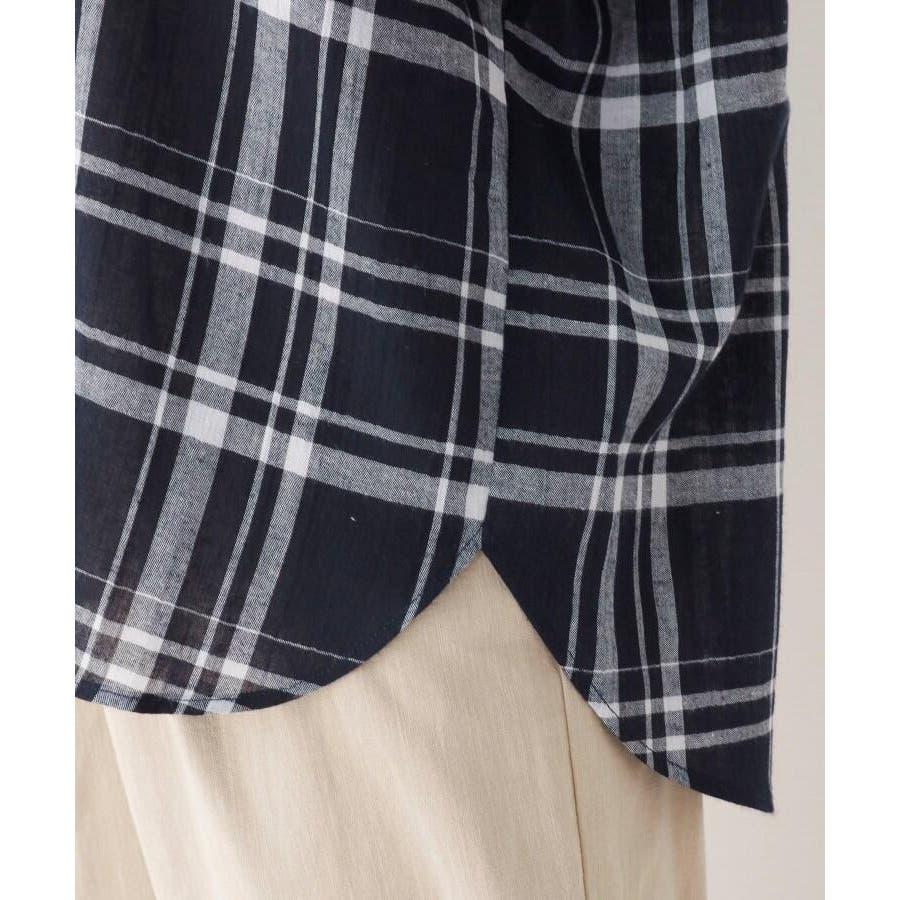 【洗濯機OK】リネン混ビッグスキッパーシャツ 7