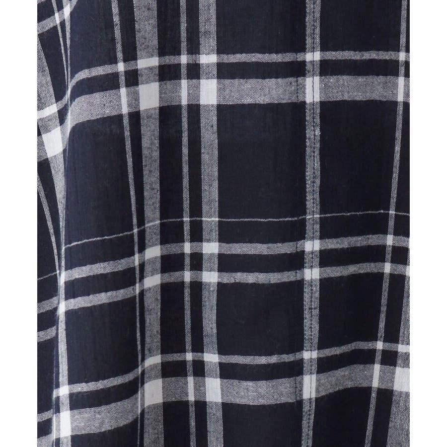 【洗濯機OK】リネン混ビッグスキッパーシャツ 8