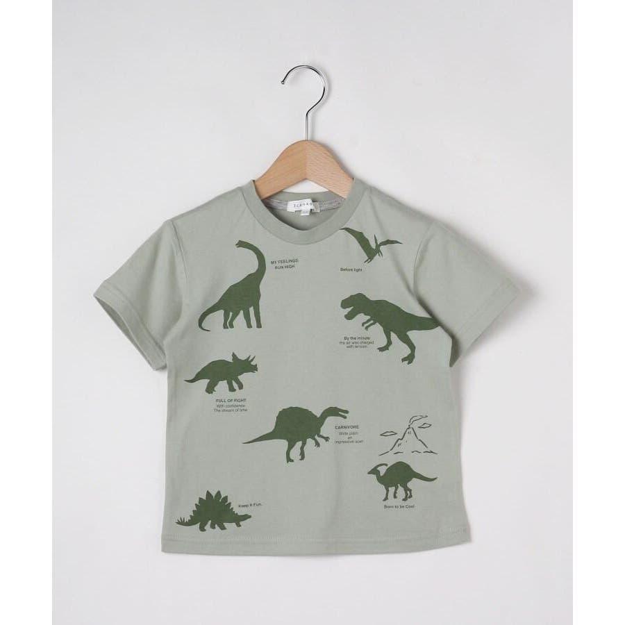 【90-140cm】恐竜プリントTシャツ 2