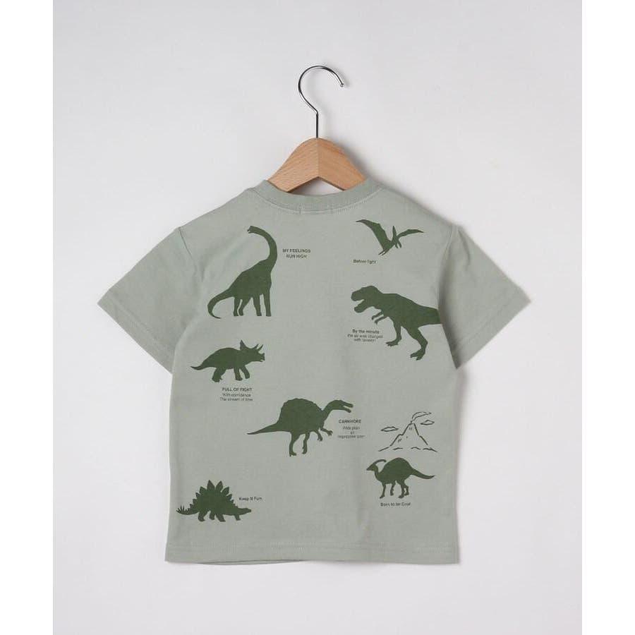 【90-140cm】恐竜プリントTシャツ 3