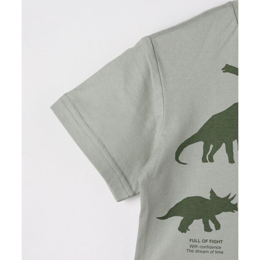 【90-140cm】恐竜プリントTシャツ 5