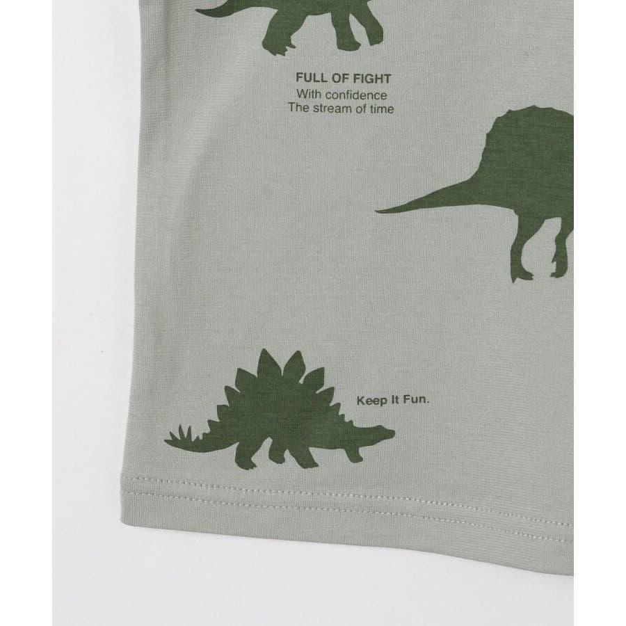 【90-140cm】恐竜プリントTシャツ 6