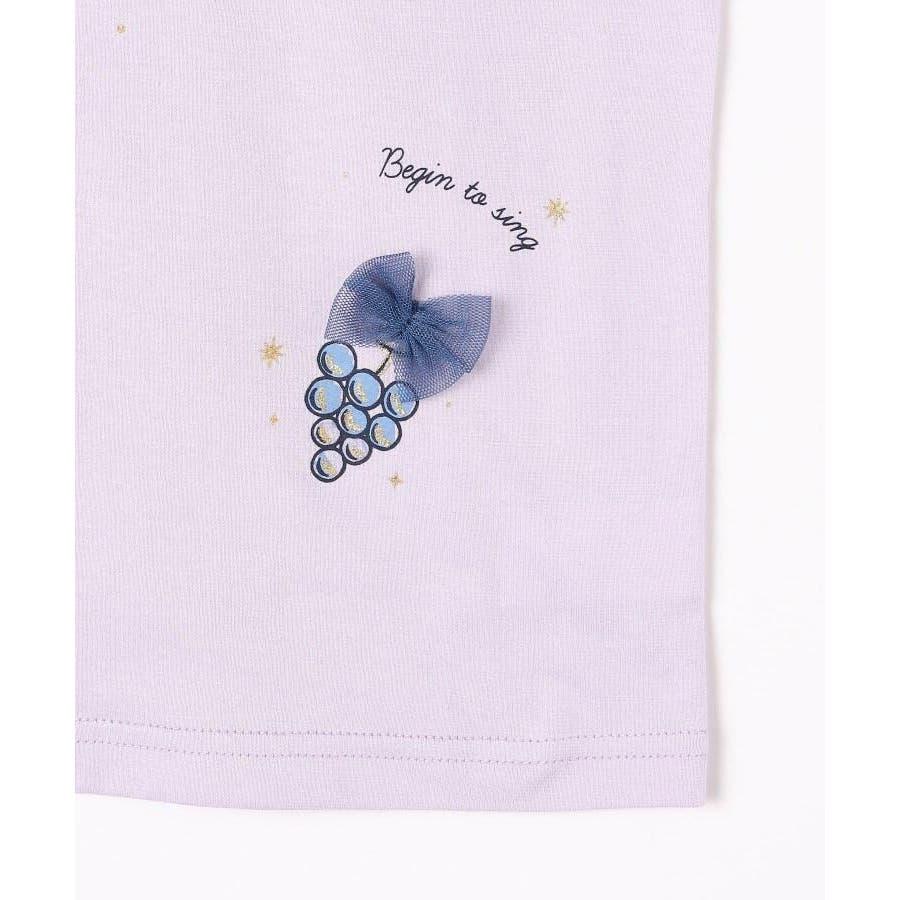 【100-140cm】立体リボンとフルーツ柄Tシャツ 6