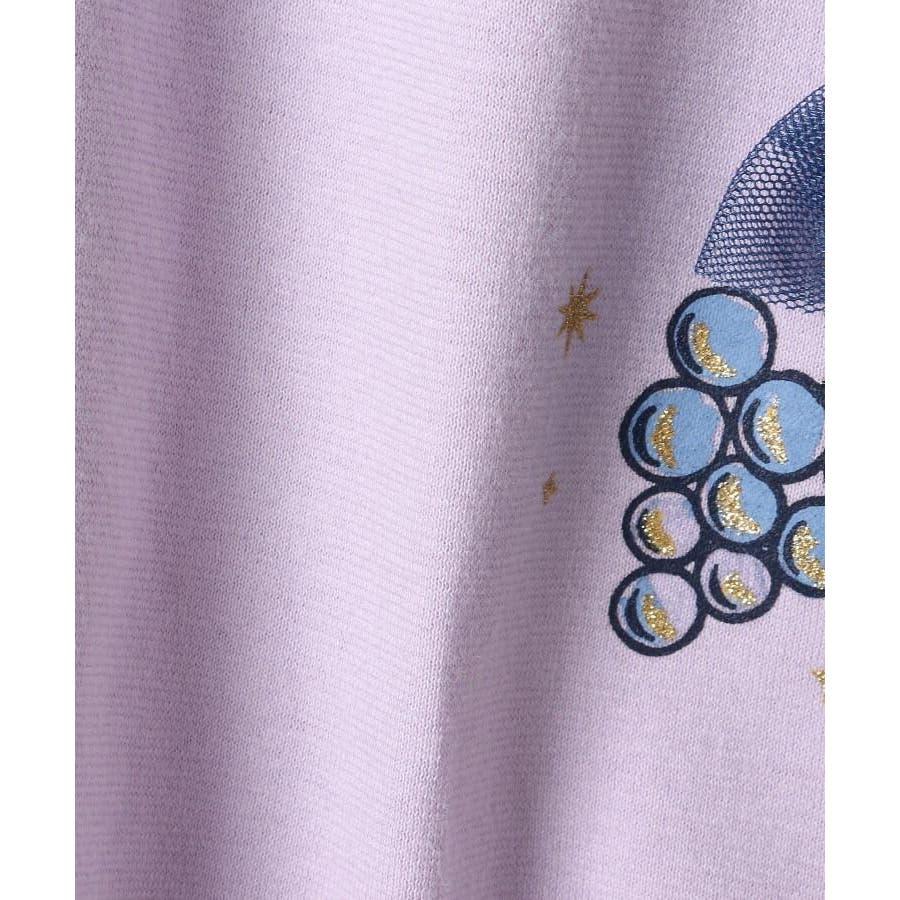 【100-140cm】立体リボンとフルーツ柄Tシャツ 7