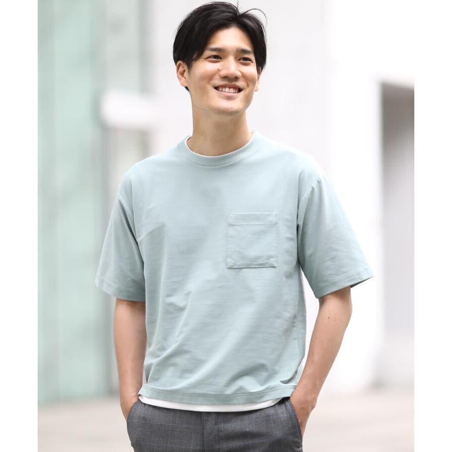 【接触冷感】インレイフェイクレイヤードTシャツ 53
