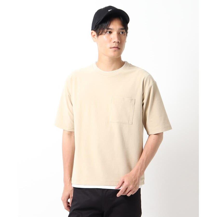 【接触冷感】インレイフェイクレイヤードTシャツ 41