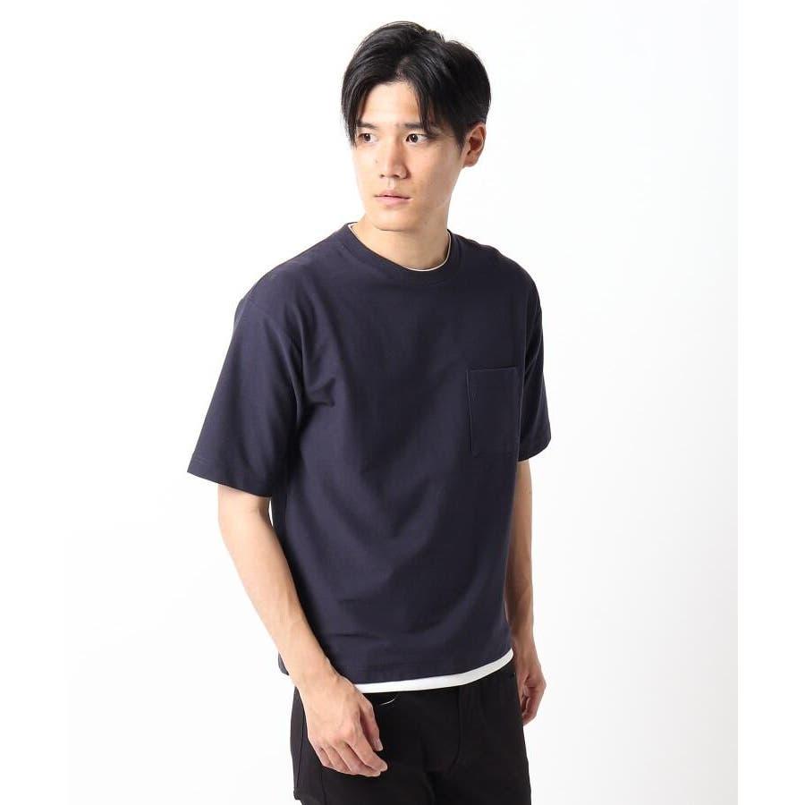 【接触冷感】インレイフェイクレイヤードTシャツ 64