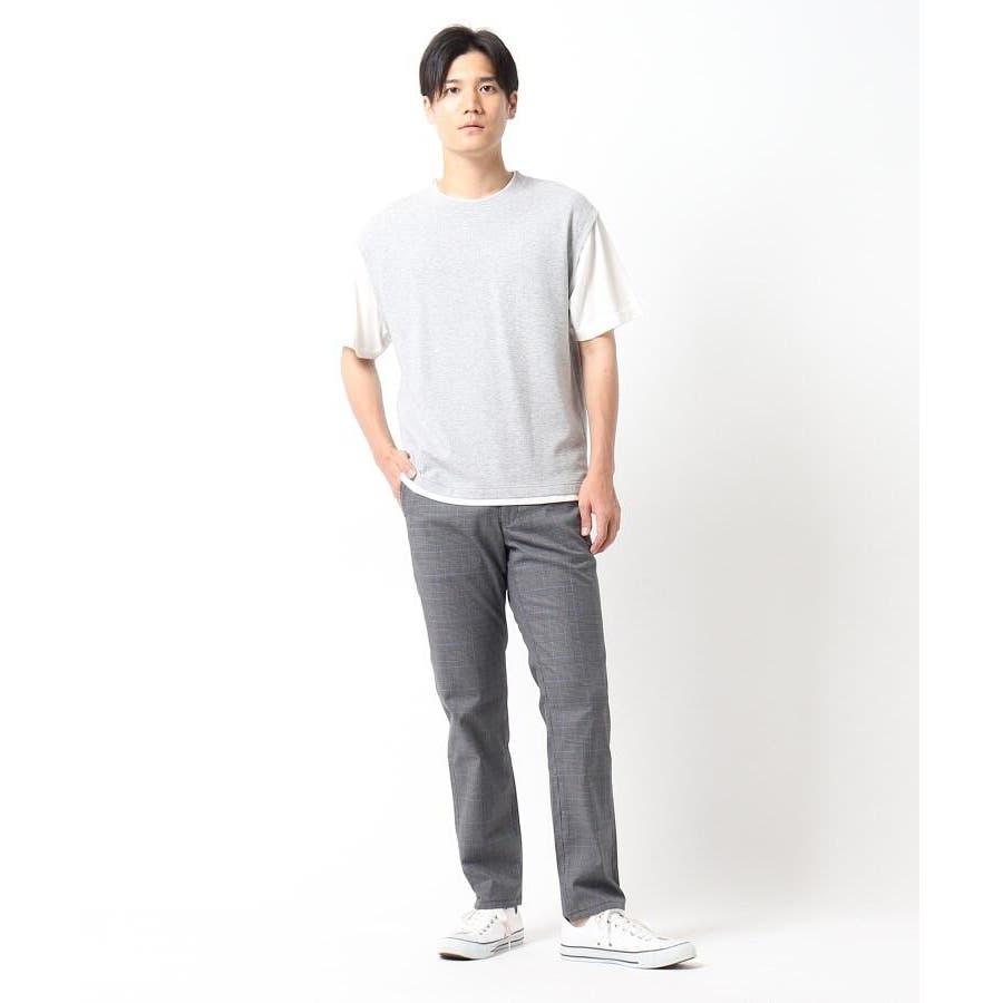 【接触冷感】ポリエチレンフェイクベストTシャツ 4