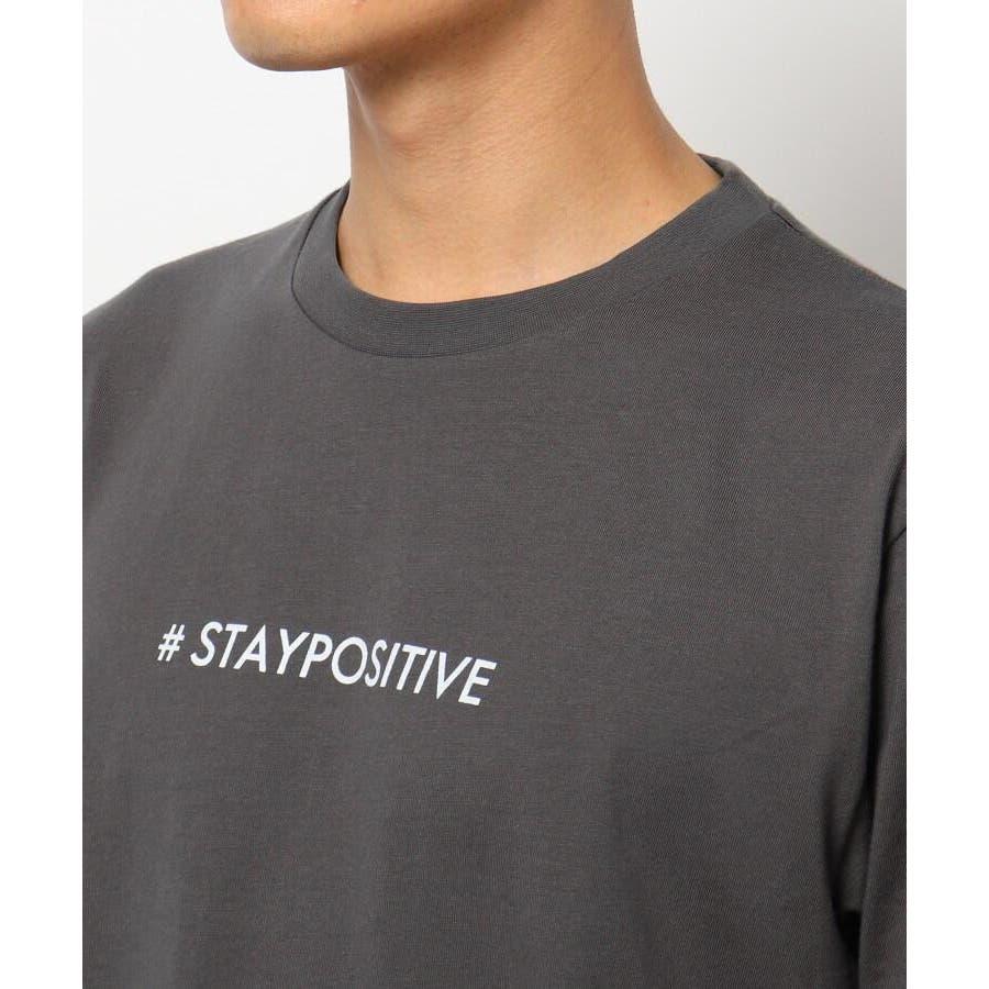 【日本財団チャリティー】#staypositive リサイクルコットンTシャツ 5