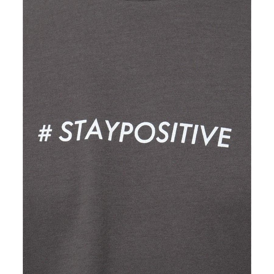 【日本財団チャリティー】#staypositive リサイクルコットンTシャツ 8