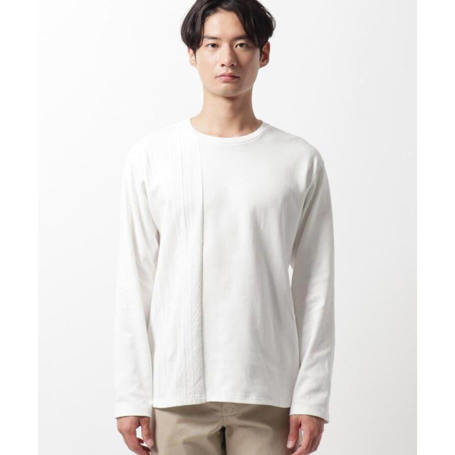 【QUICK DRY】ポンチケーブル切替クルーネックTシャツ 2
