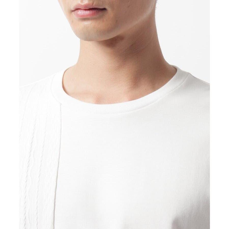 【QUICK DRY】ポンチケーブル切替クルーネックTシャツ 7