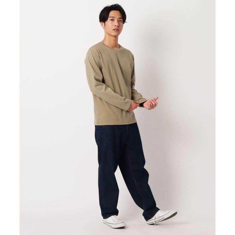 【QUICK DRY】ポンチケーブル切替クルーネックTシャツ 3