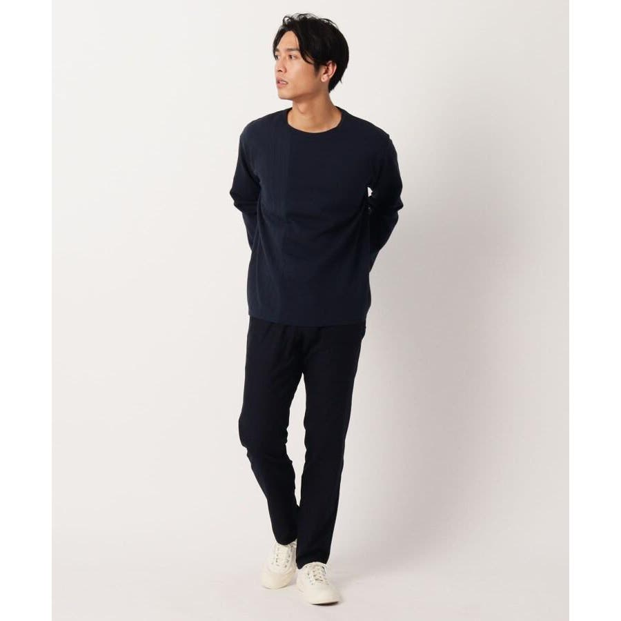 【QUICK DRY】ポンチケーブル切替クルーネックTシャツ 4