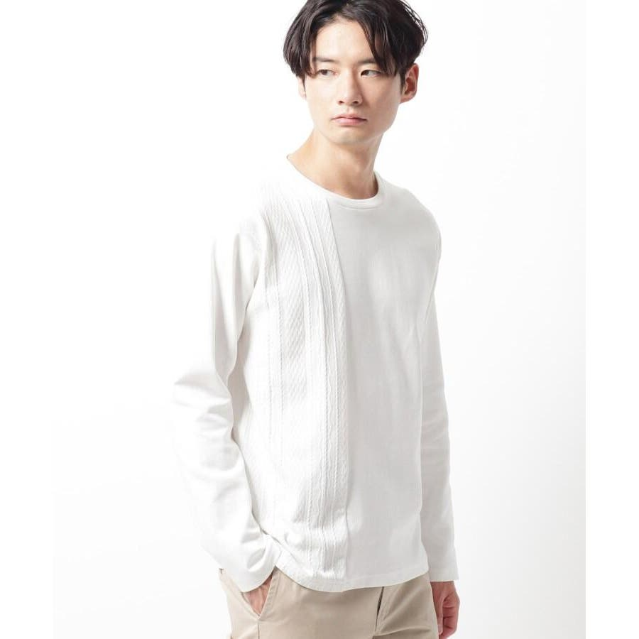 【QUICK DRY】ポンチケーブル切替クルーネックTシャツ 17