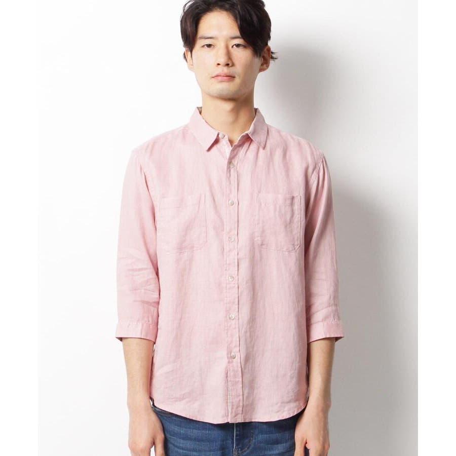 【ベルギーリネン】7分袖シャツ 2