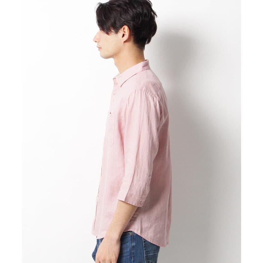 【ベルギーリネン】7分袖シャツ 3