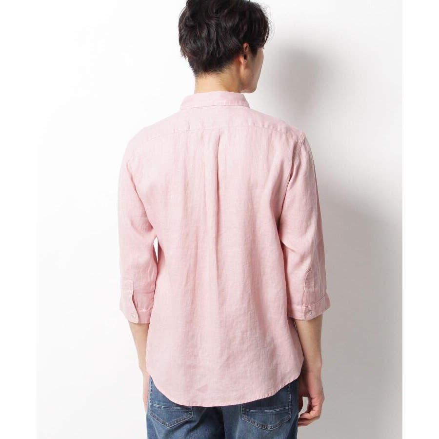 【ベルギーリネン】7分袖シャツ 4
