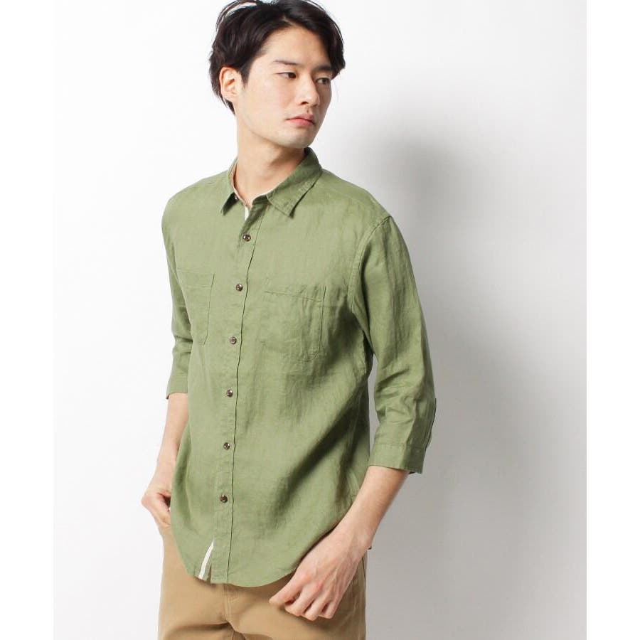 【ベルギーリネン】7分袖シャツ 6
