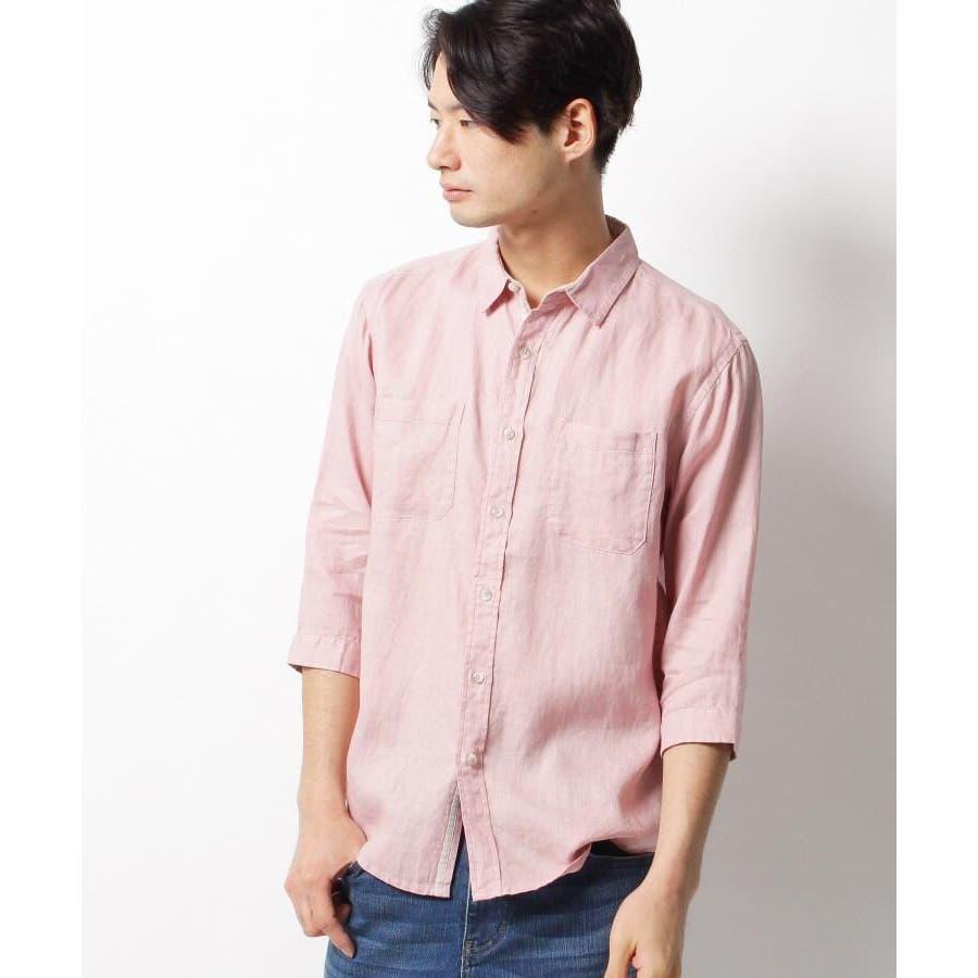 【ベルギーリネン】7分袖シャツ 10
