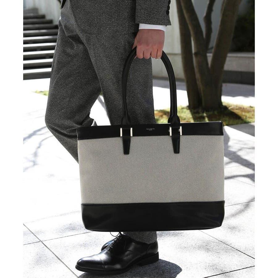 シャンブレーオックストート/A4サイズ/ビジネス/出張/旅行/フォーマル/ドレス 2